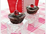 Chocolate Drop Mini Muffins with Red Noses (Delia Smith)