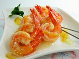 Fried Prawns in Honey Citron Sauce 柚子密虾球