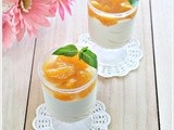 Orange/Peach (No-bake) Cheesecake in Glass plus Giveaway