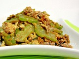 Stir Fried Egg with Bitter Gourd and Pork