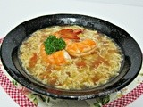 Tomato Egg Drop Soup with Prawns