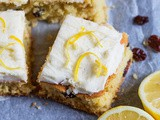 Lemon and Cranberry Cake Bars
