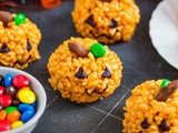Pumpkin Rice Krispie Treats – {Kid friendly Halloween treat!}