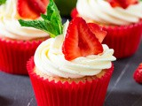 Strawberry Pimms Cupcakes