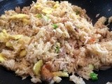 Indonesian fried rice with mackerel