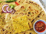Aloo Paratha (Potato stuffed unleavened flatbread)