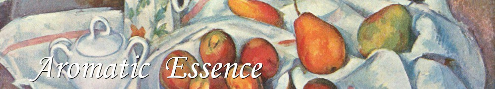 Very Good Recipes -   Aromatic  Essence