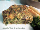 Mushroom and Zucchini (crustless) Pie