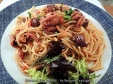Spaghetti with Baby Octopus and Olives