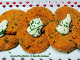 Sweet Potato Cakes with Chives