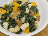 Kale and pumpkin gnocchi