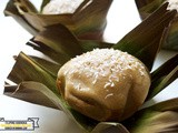 Bibingka: Filipino Rice Flour Cake Cooked in Banana Leaves