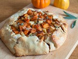 A Non-Traditional Thanksgiving Side: Fall Harvest Galette w/ Maple Sweet Potatoes, Caramelized Onions, Bacon & Gruyere