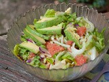 A Perfect Summer Salad: Grapefruit, Avocado & Fennel w/ Asian Citrus Dressing