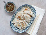 Beef and Mushroom Dumplings with Asian Dipping Sauce