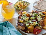 Celebrating Memorial Day with Stoli Vodka! Grilled Honey Orange Chicken Skewers w/ Cucumber-Orange-Cilantro Salsa | Honey Orange Blossom Cocktails