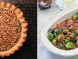 Holiday Recipes: Maple Brown Sugar Walnut Pie & Maple-Glazed Brussels Sprouts