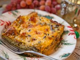 Mushroom, Ham and Cheese Strata: Best Brunch Casserole. ever
