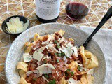 Red Wine Bolognese Pappardelle + World Pasta Day