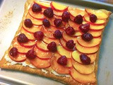Savoring the Fruits of Summer :: Peach-Raspberry Almond Vanilla Cream Tart