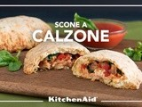 Savory Herb and Cheese Scone Calzones with Sausage, Veggies & Cheese on the KitchenAid blog