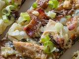 Spinach Artichoke Chicken & Bacon Flatbread Pizza