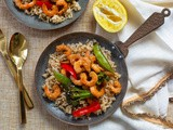 Sweet + Spicy Meyer Lemon Shrimp Stir Fry