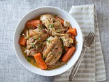 Wine-Braised Chicken w/ Bacon, Veggies & Herbs