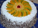 Sponge cake + whipped cream and fruits (ii)