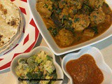 Aubergine, fenugreek and dumplings curry – Ringna, methi ne muthiya nu shak