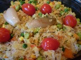 Colourful Rice with Mixed Vegetables perfect for the Street Party