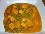 Creamy Mutter Paneer (Creamy Peas and Paneer curry)