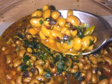 Curried Black Eyed Peas/beans (Chora) in the Instant pot