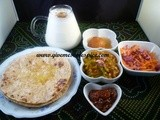 Gluster bean (guvar) curry and hot chapatis