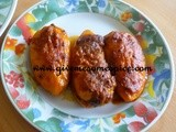 Masala Stuffed Orange Baby Bell Peppers (Bharela Marcha)