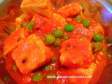 Mutter Paneer curry (Paneer with green peas)