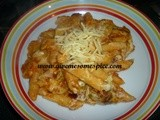 Penne Pasta Bake with tomato and  béchamel sauce