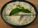 Raita:  Spicy Yogurt Dip with carrots and fresh mint