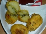 Spicy Bombs (Hot spicy stuffed bhajias for those who dare!)