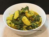 Spinach and Potato curry (Saag Alu)