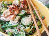 Asian Salmon Salad with Sesame Ginger Dressing {gf, df}