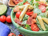 Blt Pasta Salad with Creamy Spicy Avocado Sauce