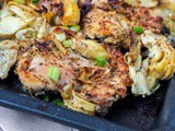 Broiled Chicken Thighs with Artichoke and Garlic