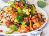 Chicken Broccoli Stir Fry with Shiitakes {gf, df}