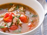Chicken Soup with Cherry Tomatoes and White Beans {Gluten-Free, Dairy-Free}