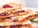 Cranberry, Pistachio and Coconut Dessert Quesadilla {gf, Vegan}