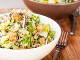 Crispy Romaine Salad with Chicken and Croutons {Gluten-Free, Dairy-Free}