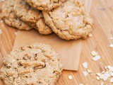 Gluten Free Oatmeal Cookies with Almond Butter and Coconut