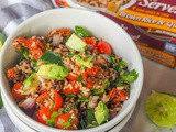 Guacamole Salad with Brown Rice & Quinoa {gf, Vegan}