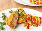 Mini Turkey Taco Patties {Gluten-Free, Dairy-Free} with Vegan Corn Salsa and a #Giveaway